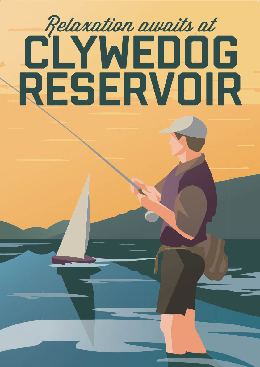 Clywedog Reservoir - Wales Tourism Poster